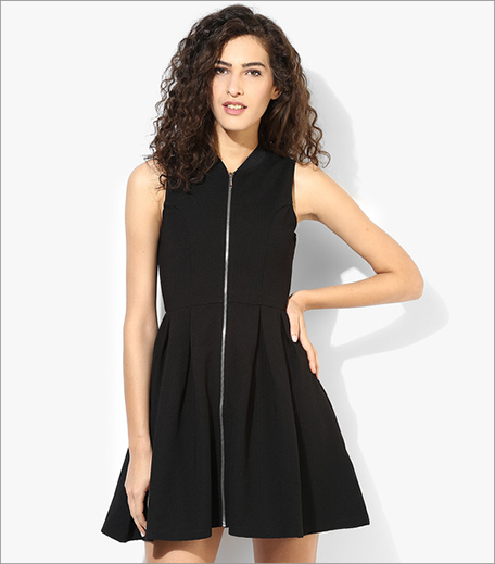 Mexx Black Solid Skater Dress_Hauterfly