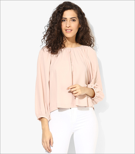 Mexx Peach Solid Blouse_Hauterfly