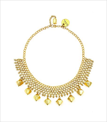 Ritika Sachdeva Gold finish jaal bib necklace_Hauterfly