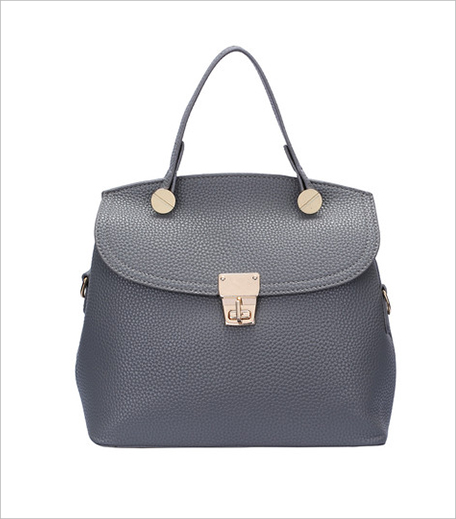 The Style Syndrome Grey Twist Lock Shoulder Bag_Hauterfly