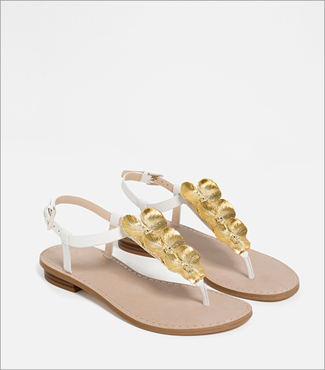 Zara Flat Leather Sandals_Hauterfly