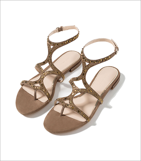 Zara Flat Sandals With Shiny Details_Hauterfly