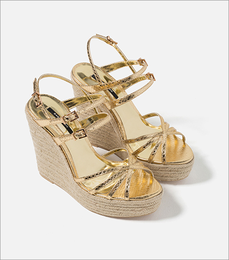 Zara Metallic Strappy Wedges_Hauterfly