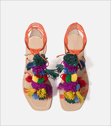 Zara Pom Pom Sandals_Hauterfly