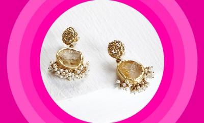 Zariin Jewellery Echoing Art Citrine Earrings_Hauterfly