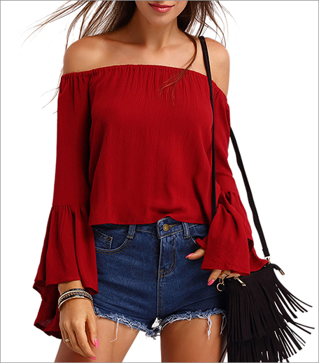 Zoomberg Off the Shoulder Bell Sleeve Top_Hauterfly