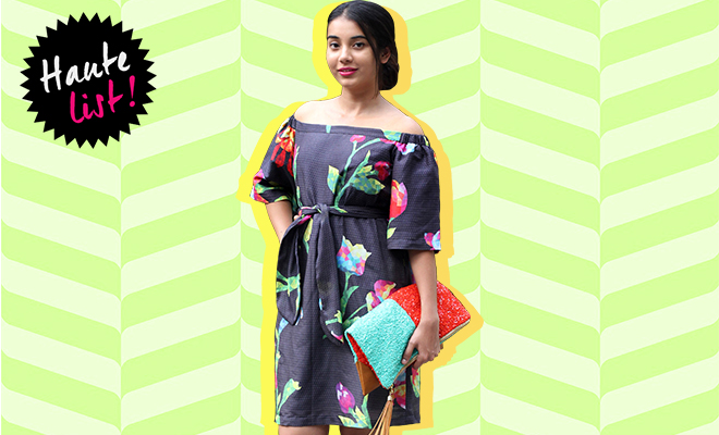 Quirk Box Off Shoulder Dress Mosaic Floral_ Featured_Hauterfly