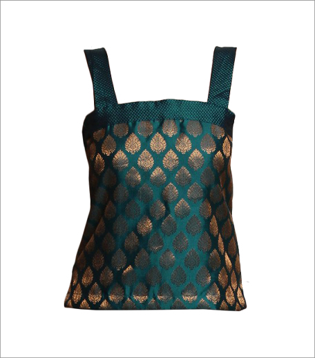 Teal Brocade Top_Bois Budget Buys_Hauterfly