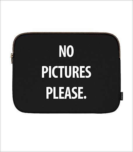 No Pictures Please Uptown 18 Fun Laptop Sleeve_Hauterfly