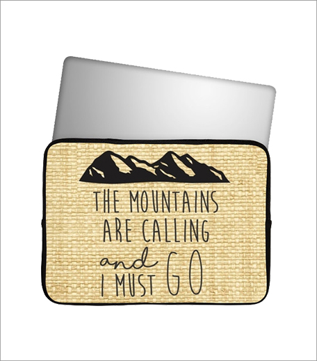 Postergully Mountains Are Calling Laptop Sleeve_Hauterfly
