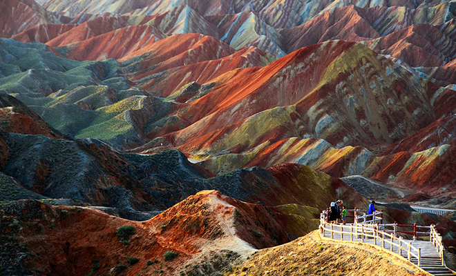 Zhangye Danxia Landform, Gansu, China_Hauterfly