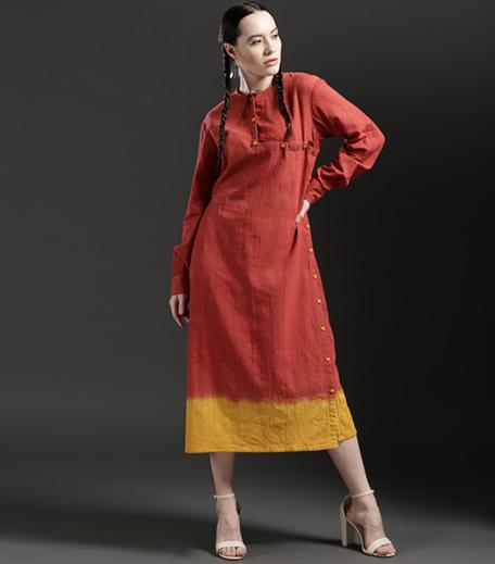 ka-sha-by-karishma-shahani-khan-orange-yellow-dip-a-line-dress_hauterfly