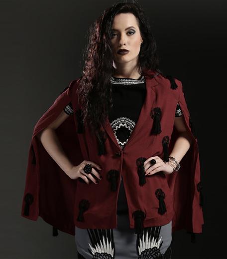 kukoon-the-label-maroon-dripping-tassel-cape-jacket