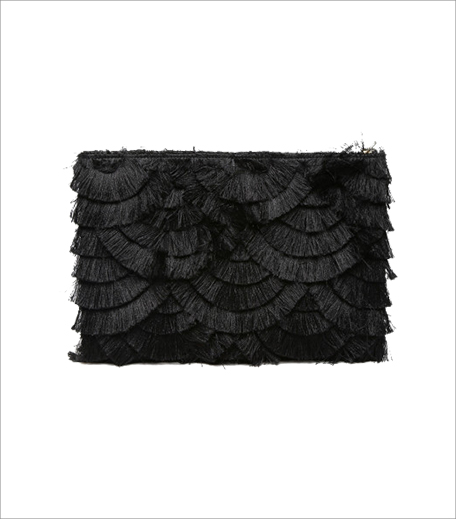 pankaj-and-nidhi-black-oversized-fringe-clutch