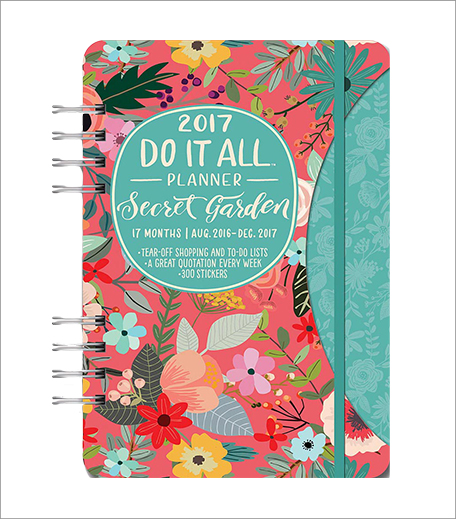 Orange Circle Studio Secret Garden Do It All 17 Months Planner 2017_Hauterfly