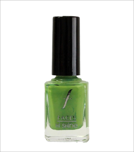 Faces Hi Shine Nail Enamel in Kermit Green