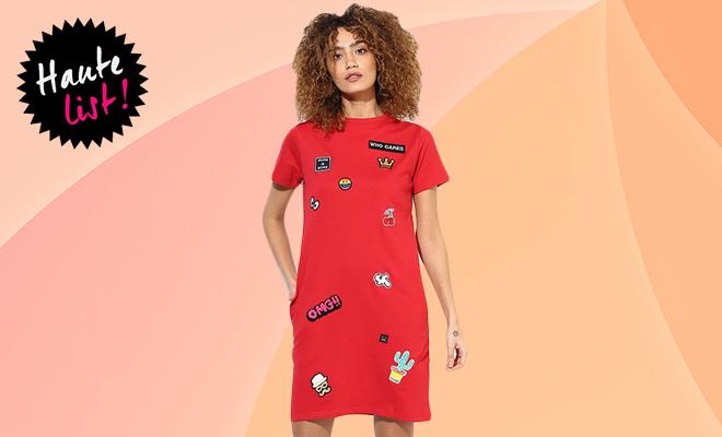 Jabong Pattern Shift Dress_Hauterfly