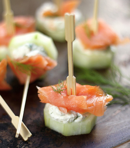 New Year Appetizers_Salmon And Cucumber Bites_Hauterfly