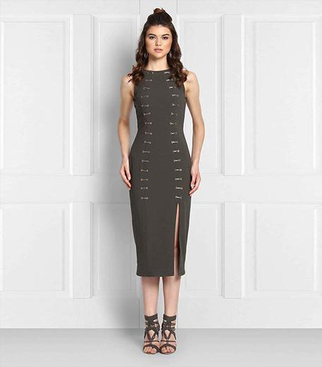 Get Priyanka Chopra's Look_Lulu & Sky Olive Midi Dress_Hauterfly