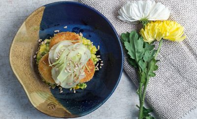 Crab Cakes & Yellow Pepper Risotto_Hauterfly