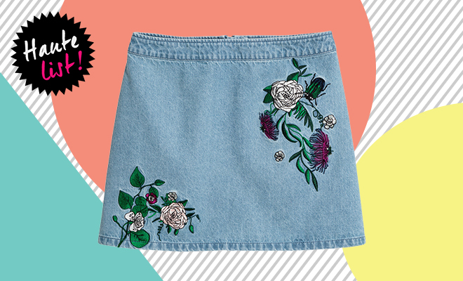 H&M Embroidered denim skirt_Featured_Hauterfly