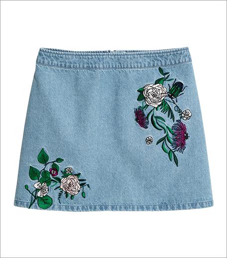 H&M Embroidered denim skirt_Inpost_Hauterfly