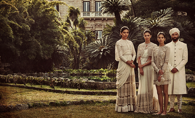Campaign for Palermo Afternoons collection by Sabysachi_Front Row With Shweta Shiware_Hauterfly