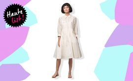 Nicobar Pleated Waist Dress Ivory_Featured_Hauterfly