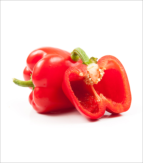 Foods to eat for glowing skin_Red bell peppers