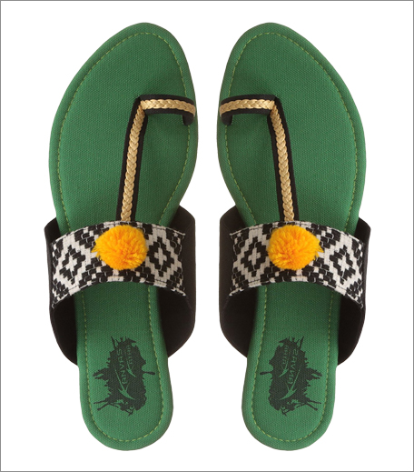 Tuesday Shoes Day_Kolhapuris_Amazon Kanvas Katha Parrot Green_Hauterfly