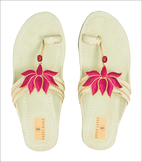 Tuesday Shoes Day_Kolhapuris_Jivana Green lotus Kolhapuri_Hauterfly