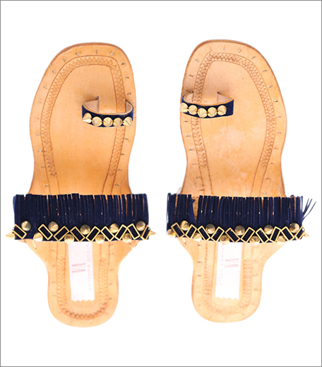 Tuesday Shoes Day_Kolhapuris_Jivana Light brown and Navy Blue Tassel Kolhapuris_Hauterfly