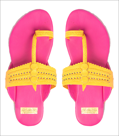 Tuesday Shoes Day_Kolhapuris_Jivana Pink and Yellow Kolhapuris_Hauterfly