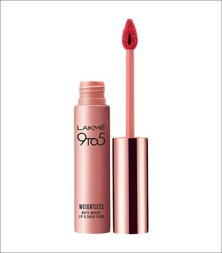 Must Have Lakme Lipsticks_Lakme 9 to 5 Weightless Matte Mousse Lip & Cheek Color - Pink Plush_Hauterfly