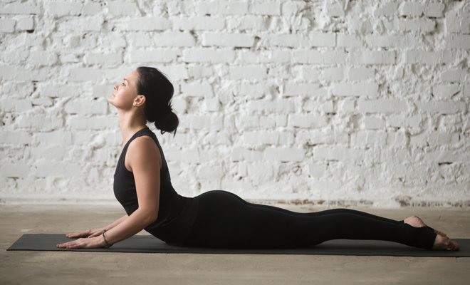 Cobra Pose or Bhujangasana_Yoga for inflexible_Hauterfly
