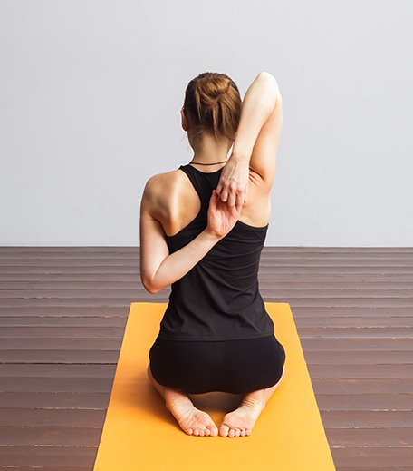 Cow Face Pose or Gomukhasana_Yoga For inflexible_Hauterfly