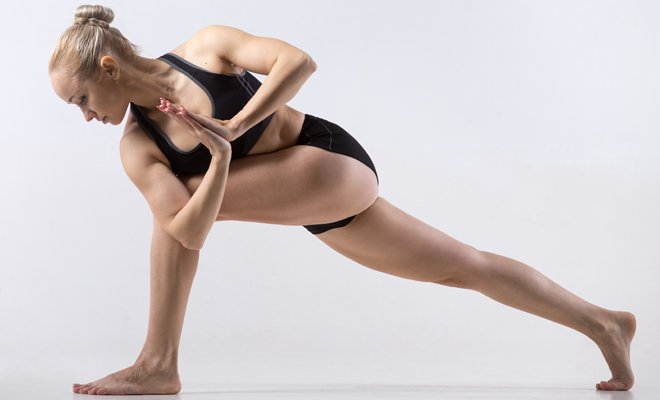 Side Lunge Pose or Scandasana_yoga for inflexible_Hauterfly