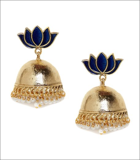 PANASH Gold-Plated Floral Jhumkas