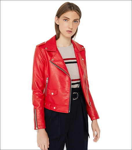 MANGO Women Red Solid Biker Jacket