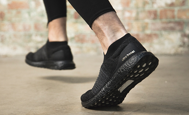adidas ultra boost laceless sneakers
