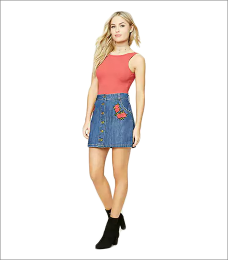 F21 Denim Skirt