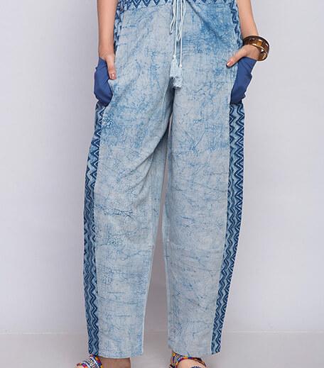 Dabu print pants