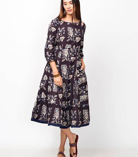 kalamkari cotton dress