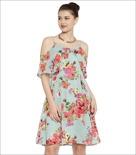 myntra fit and flare dress