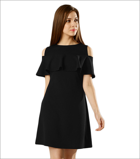 faballey cold shoulder dress