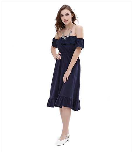 koovs off shoulder dress