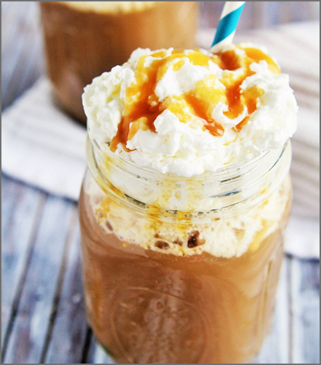 Iced Coffee Recipes - Salted Caramel Iced Latte