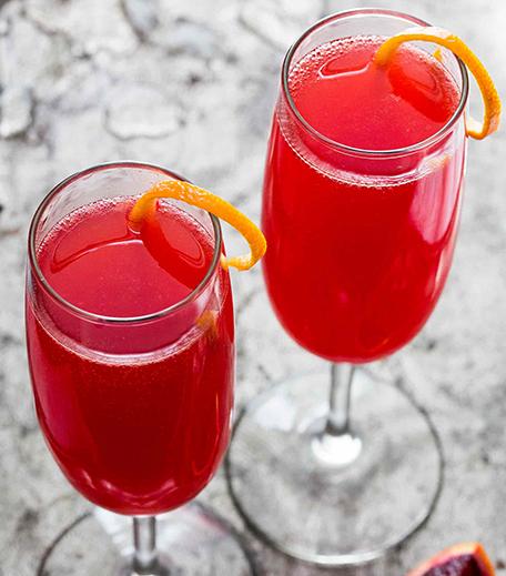 Valentine's Cocktails Blood Orange 75