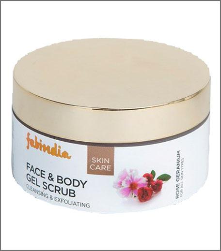 Fabindia Rose Geranium Face and Body Gel Scrub