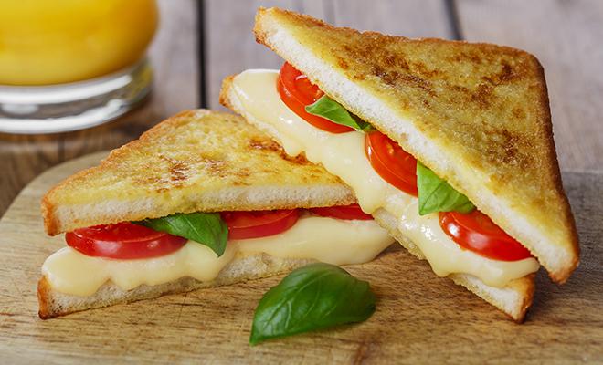 Tomato Cheddar Tea Sandwich